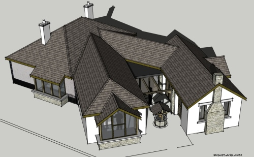home-extension-for-private-client-architectural-drawings-by-brendan-lennon-3 courtyard extension to rear of home architects design